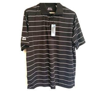 *NWT* Slazenger men's golf polo shirt black white